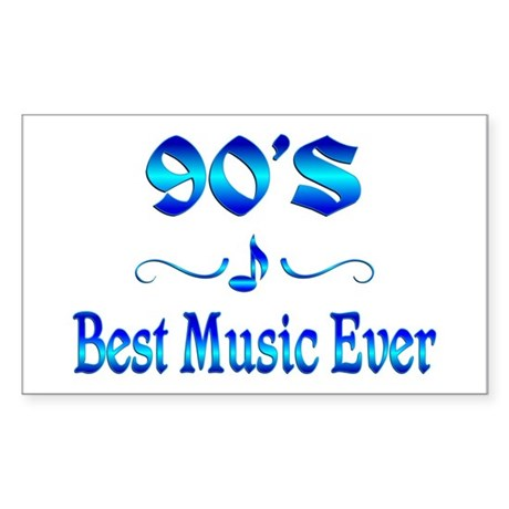 90s Best Music Sticker (Rectangle)