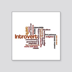 Introvert Strengths Word Cloud 1 Sticker