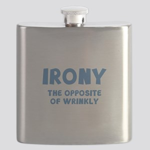 IRONY the opposite of wrinkly Flask