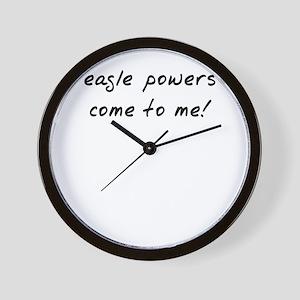 Easgle powers Wall Clock