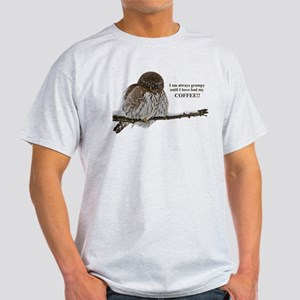 Grumpy Coffee Owl T-Shirt