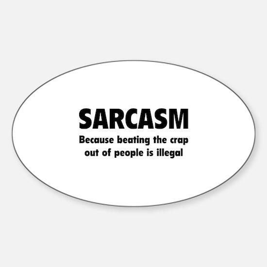 SARCASM Sticker (Oval)