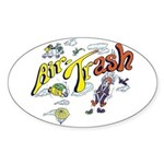 Air Trash Oval Sticker