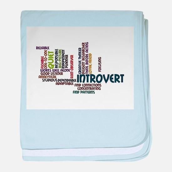 Introvert Strengths Word Cloud 2 baby blanket