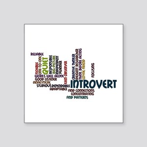 Introvert Strengths Word Cloud 2 Square Sticker 3""