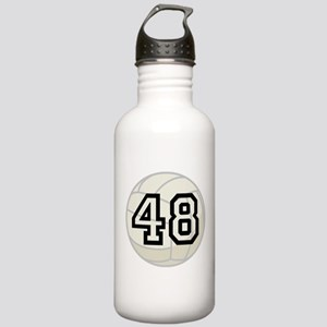 Volleyball Player Number 48 Stainless Water Bottle