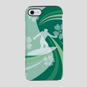 Tropical Surf Mint iPhone 7 Tough Case