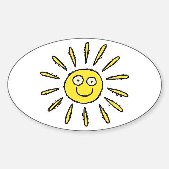 Happy Sun Oval Decal