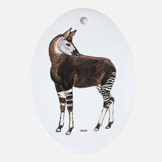 Okapi Animal Ornament (Oval)