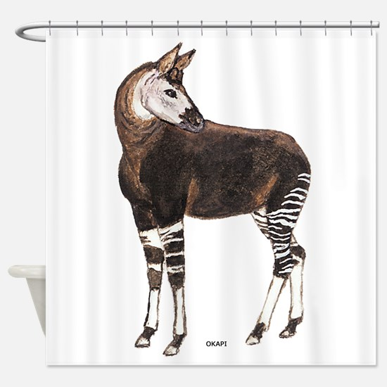 Okapi Animal Shower Curtain
