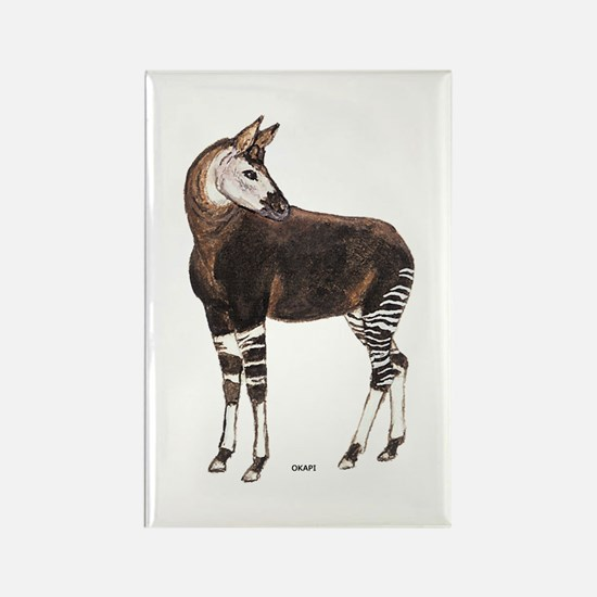 Okapi Animal Rectangle Magnet