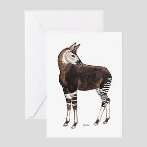 Okapi Animal Greeting Card
