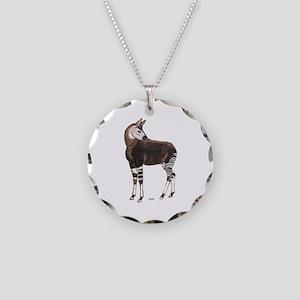 Okapi Animal Necklace Circle Charm
