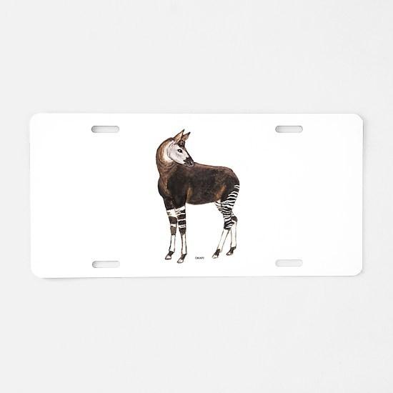 Okapi Animal Aluminum License Plate