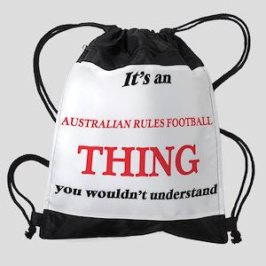 It's an Australian Rules Footba Drawstring Bag