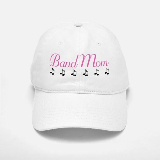 Band Mom Music Notes Baseball Baseball Baseball Cap