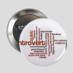 """Introvert Strengths Word Cloud 1 2.25"""" Button"""