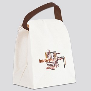 Introvert Strengths Word Cloud 1 Canvas Lunch Bag