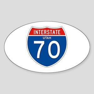 Interstate 70 - UT Oval Sticker