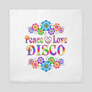 Peace Love Disco Queen Duvet