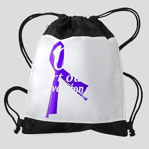 SOFIA Purple Ribbon Drawstring Bag