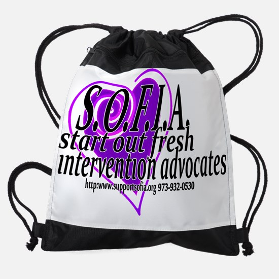 SOFIA Heart Drawstring Bag