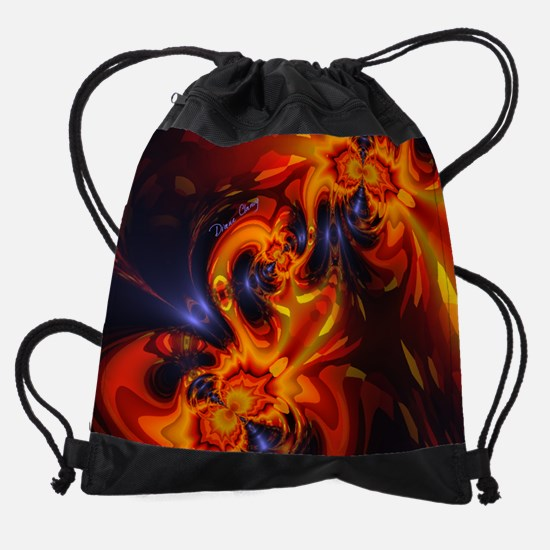 Dance of the Dragons Abstract Moder Drawstring Bag