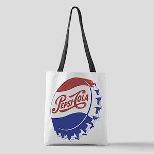 Pepsi Bottle Cap Polyester Tote Bag
