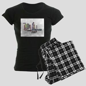 Introvert Strengths Word Cloud 2 Pajamas