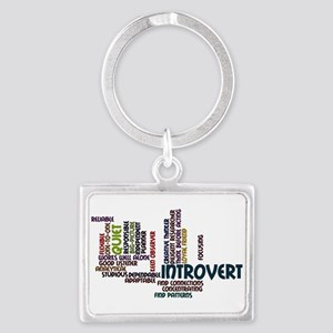 Introvert Strengths Word Cloud 2 Keychains