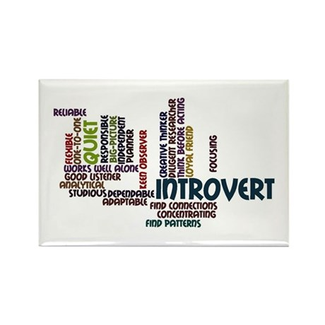 Introvert Strengths Word Cloud 2 Rectangle Magnet