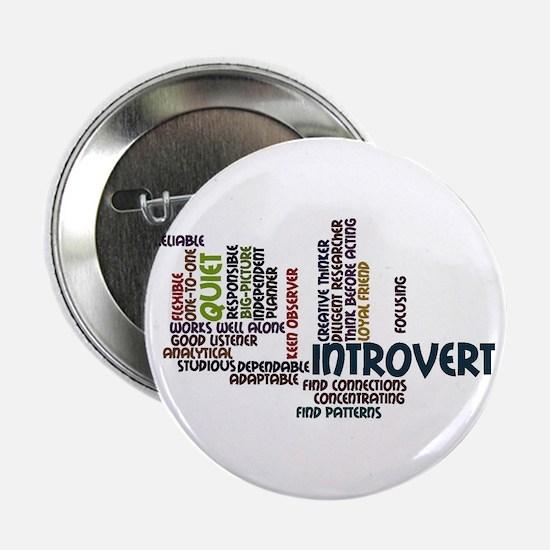 """Introvert Strengths Word Cloud 2 2.25"""" Button"""