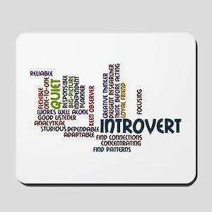 Introvert Strengths Word Cloud 2 Mousepad