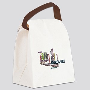 Introvert Strengths Word Cloud 2 Canvas Lunch Bag