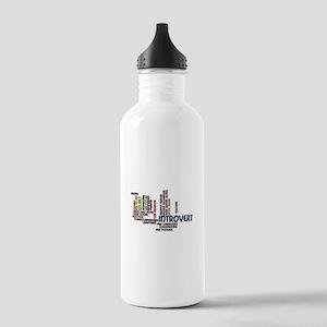 Introvert Strengths Word Cloud 2 Water Bottle