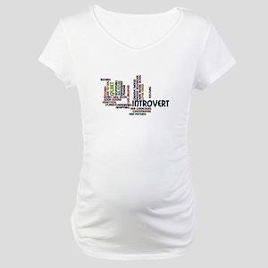 Introvert Strengths Word Cloud 2 Maternity T-Shirt