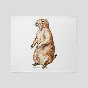 Prairie Dog Throw Blanket