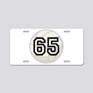 Volleyball Player Number 65 Aluminum License Plate
