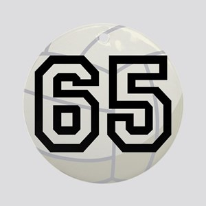 Volleyball Player Number 65 Ornament (Round)
