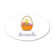Easter Basket Miranda Wall Decal