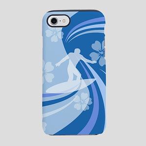 Tropical Surf blue iPhone 7 Tough Case