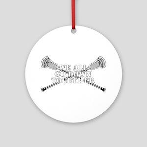 Lacrosse Goodnight Siagon Ornament (Round)