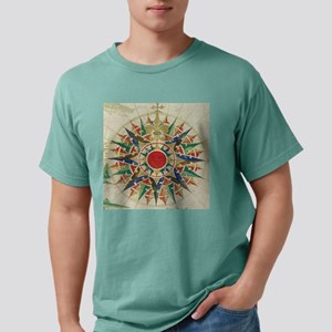Vintage Compass Rose Dia Mens Comfort Colors Shirt