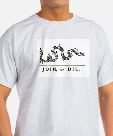 Join or Die Ash Grey T-Shirt
