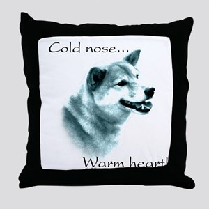 Shiba Warm Heart Throw Pillow