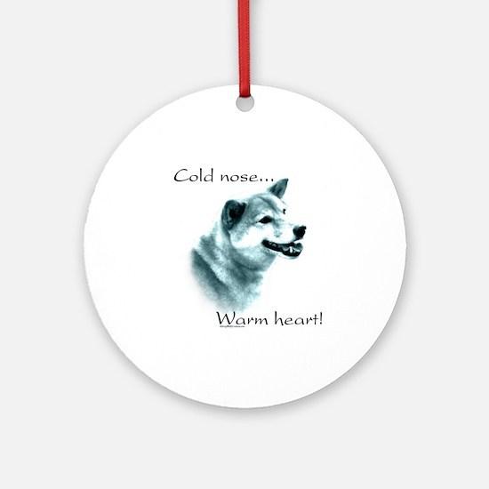 Shiba Warm Heart Ornament (Round)