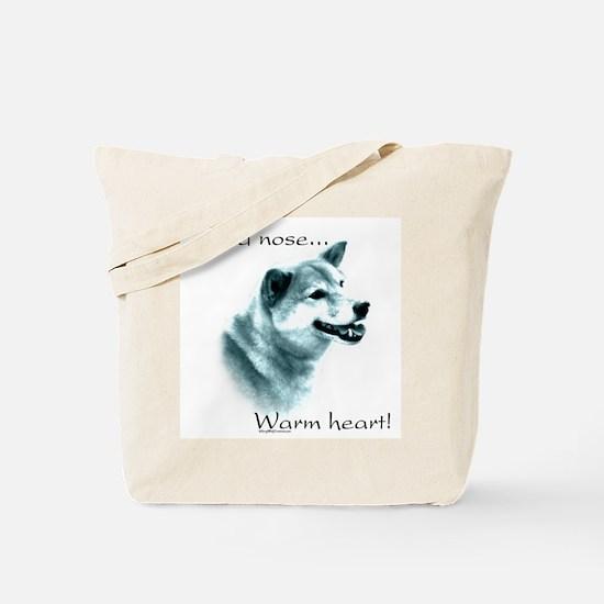 Shiba Warm Heart Tote Bag
