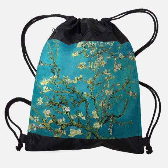 Vincent Van Gogh Blossoming Almond  Drawstring Bag