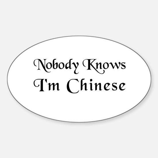 The Chinese Oval Decal