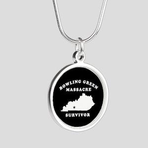 Bowling Green Massacre Survi Silver Round Necklace